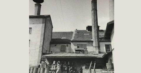 Stavba Městského pivovaru v Plané 1872