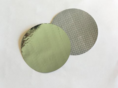 Metallised foil and fabric